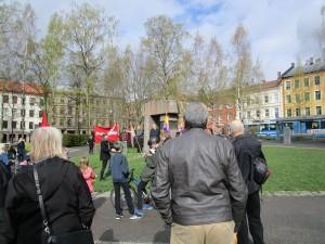 Homenaje a los soldados noruegos fallecidos en la guerra civil española